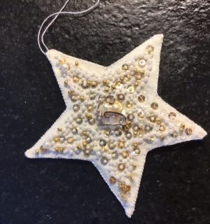 Marilyn's Sequined Star - Ornament Exchange